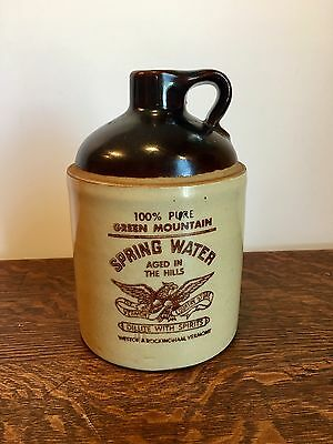 Antique Whiskey Jug~ 100% Pure Green Mountain Spring Water