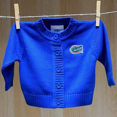 Florida Gators Baby Infant Sweater Button Up Cardigan (FREE SHIPPING) 3-6 mo