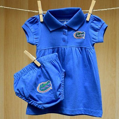 Florida Gators Baby Infant Girl 2PC Polo Dress Skirt (FREE SHIPPING) 6-9 months