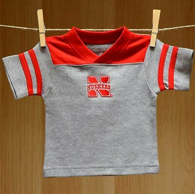 Nebraska Cornhuskers Baby Infant Football T-Shirt Tee (FREE SHIPPING) 0-3 months