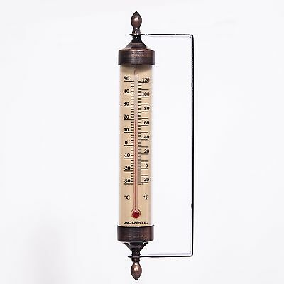 Acu Rite My Backyard Weather Metal Thermometer 9 Inch Long