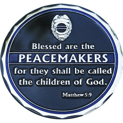 Blessed Are The Peacemakers St Michael Protect US Police Shield Challenge Coin