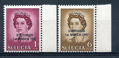 Weeda St. Lucia 182, 217 VF mint NH 1967 overprints in black, unpriced footnotes