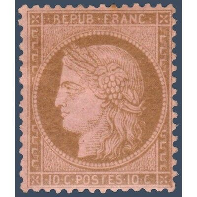 N°_58 Type Ceres 10C Brun Sur Rose, Timbre Neuf* 1873