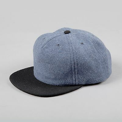 be66e1571a2a4 NORSE PROJECTS WOOL 2 Tone Flat Cap in Blue Black New With Tags M-XL ...