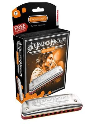 Hohner Golden Melody Harmonica in all keys, box included, Free Shipping in the U