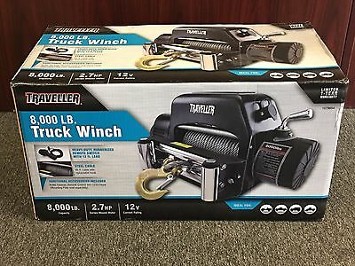 NEW SEALED! Traveller 8,000 lb CAPACITY, Truck Winch, 2.7HP, 12V, Model #1078654
