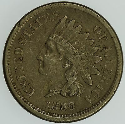 1859 Indian Head Cent! Xf+! 1C! Us Coin Lot #004