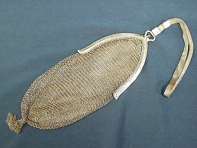 Antique Sterling Silver Mesh Purse Chain Mail Handbag Whiting & Davis 1900's