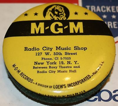 Vintage Vinyl Record Duster MGM Advertising RADIO CITY MUSIC SHOP New York City