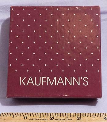 Vintage Kaufmanns Pittsburgh Department Store Jewelry Gift Box jds