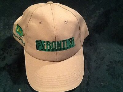 John Deere Frontier Tan and Green cap / hat