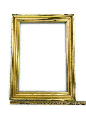 Antique Large Lemon Gold Water and Oil Gilded Gilt Cove Frame