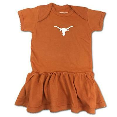Texas Longhorns Baby Infant Girl Picot Creeper Dress (FREE SHIPPING) 6-9 months