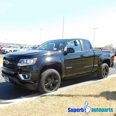 """2015-2017 Chevy Colorado Canyan 5"""" Side Step Bar Running Boards Double Cab Black"""