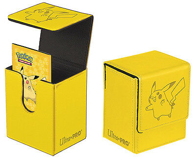 Pikachu Leatherette Flip Deck Box Card Storage Pokemon Card | Ultra Pro