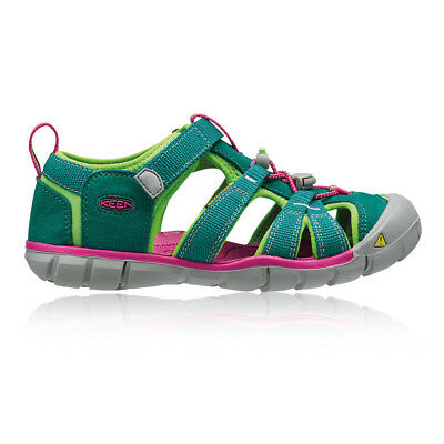 Keen Seacamp II CNX Junior Pink Green Walking Camping Sandals Summer Shoes
