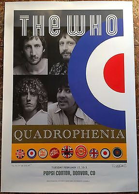 The Who - Denver Pepsi Center - Limited Edition 2013 Quadrophenia Tour Poster