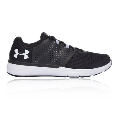 Under Armour Micro G Fuel Mens Black Cushioned Running Road Shoes Trainers