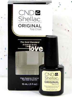 CND Shellac Gel Color UV Polish Large Original Top Coat 15ml/0.5fl.oz