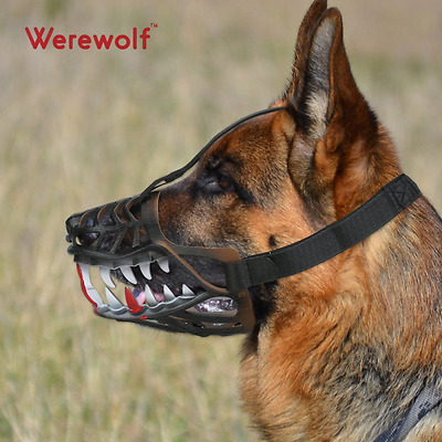 Dog Muzzle Breathable Adjustable Muzzles for Small Medium Dogs(Large, Sharp)