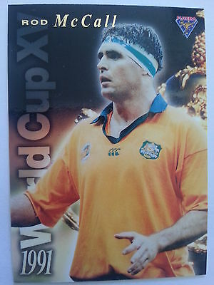 1995 Futera Rugby Union 1991 World Cup XV WC4 Rod McCall