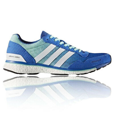 Adidas Adizero Adios Mens Blue Running Road Sports Shoes Trainers Pumps