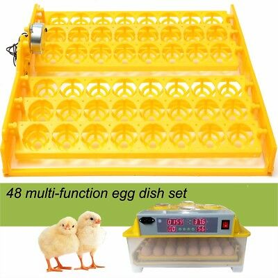 32/36/48/55/60 Egg Automatic Incubator Tray Digital Hatching Temperature Control