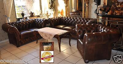 Chesterfield  Victorian De luxe Pull Up S-Aniline Vintage Chestnut E400