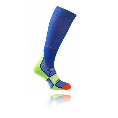 Hilly Pulse Unisex Blue Compression Running Training Sports Long Socks