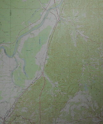 1968 Redwood Blakely Waltersville, Yazoo River, Chickasaw Bayou. Mississippi Map