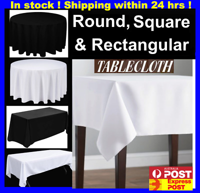 Black White Round Square Tablecloths Table Cloth Full Chair Seat Covers Clips