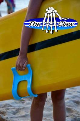The Claw (Blue colour) - simple and comfortable surfboard carry handle