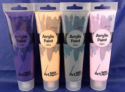 5 x 100ml Acrylic Paint Mix Any Color Cheap Craft Student Artist Quality Tube