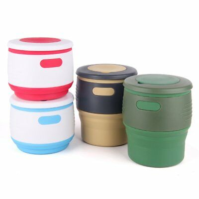 Cute Silicone Water Milk Coffee Vacuum Thermos Cup Travel Insulated Mug