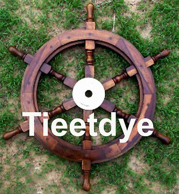 * SALE * 18 inch wooden ship-wheel - pirate boat nautical