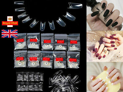 500 False Clear French Style Acrylic Artificial Nail Art Tips extension