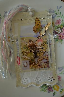 The Meadow - Mixed Media Ooak Journal/art Collage Tag Or Bookmark