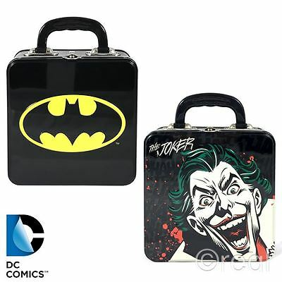 New DC Comics Batman Logo Or The Joker Square Tin Tote Lunch Box School Official