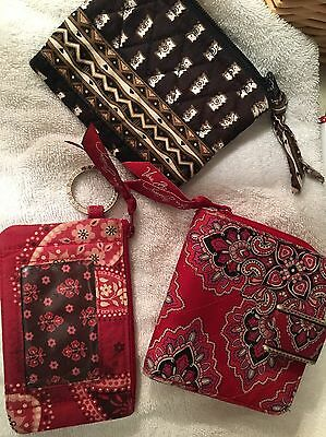 Vera Bradley lot wallet, id case and coin wallet
