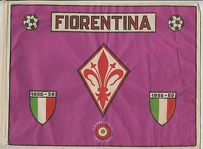 Fiorentina Rare Original Small Early 1970's Flag In Very Good Condition