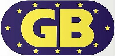 Magnetic EU Euro GB Great Brit Badge Plate Sticker 130 x 63mm Oval High Strength