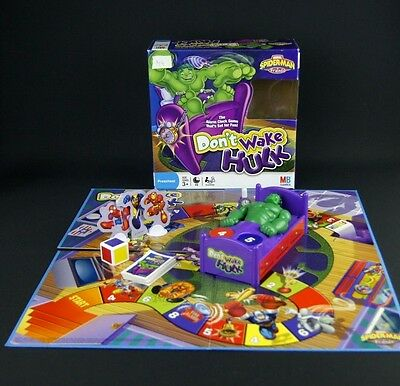 Very RARE Don't Wake Hulk Board Game by MB Games Tested Dad Marvel Spider-Man UK