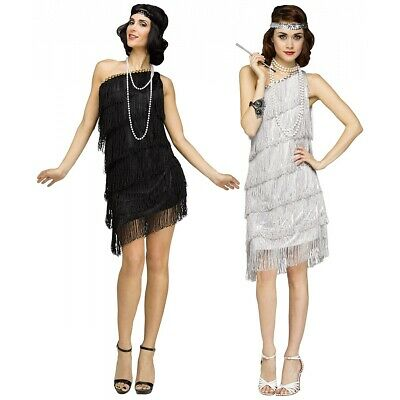 Flapper Costume Adult 1920s Halloween Fancy Dress