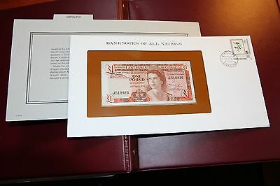 Gibraltar - 1 Pound 1975 UNC P. 20a Banknotes of all Nations RMC 156