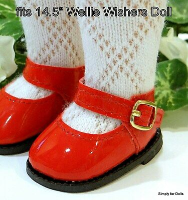 29798e8a8b0c RED Patent Mary Jane DOLL SHOES fits American Girl 14.5