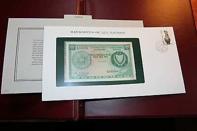 Banknotes of All Nations Cyprus 500 mils 1979 P 42c UNC Prefix M/49 RMC 156