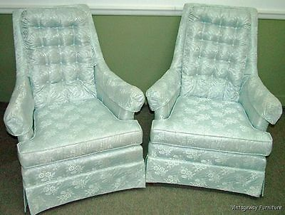 6036: Lovely Pair Vintage Quality Accent Lounge Chairs Beautiful Color