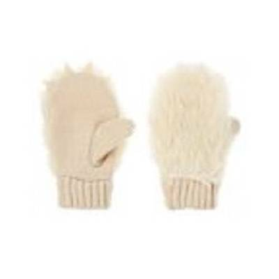 Gymboree Animal Party Faux Fur Snow Bear Claw Mittens 12 24 2T 3T Nwt Boys