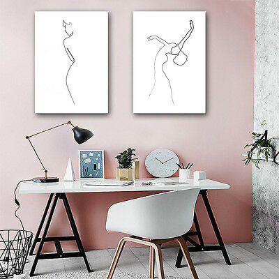 Famous Art One Line Drawing Dancing Girl Minimalism Canvas Poster Wall Decor